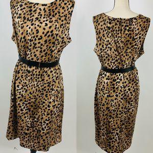 Calvin Klein Leopard Career Dress Plus Size 16W